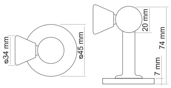 Стопор магнитный MORELLI